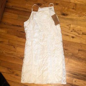 Paper Crane white sun Dress